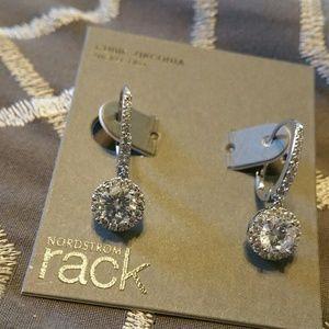 NWT * Nordstrom earrings CZ silver tone